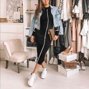 Zara Knit Ribbed Dress